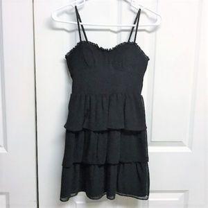 American Eagle Black Ruffle Dress Size 0